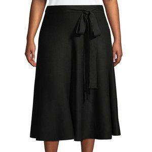 GABRIELLE Plus Knit Tie Waist Skirt